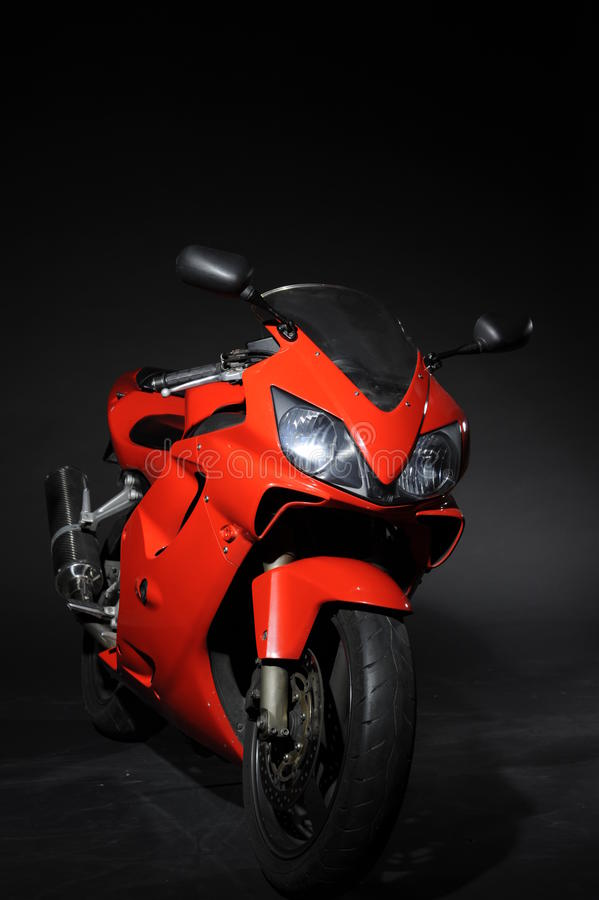 Moto sport red stock photos