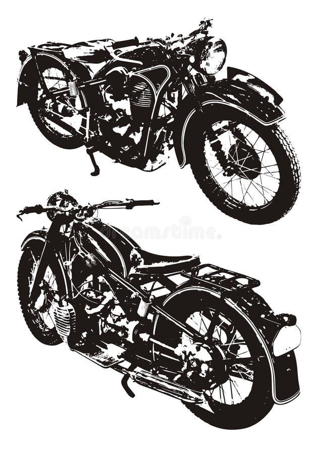 Moto vieja stock de ilustración