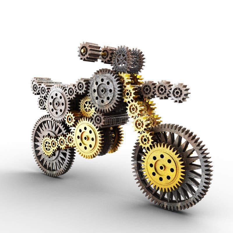 Motobike Made Of Gears Stock Photos