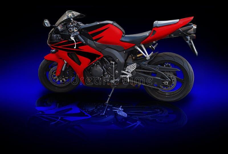 Motobike rojo fotografía de archivo libre de regalías