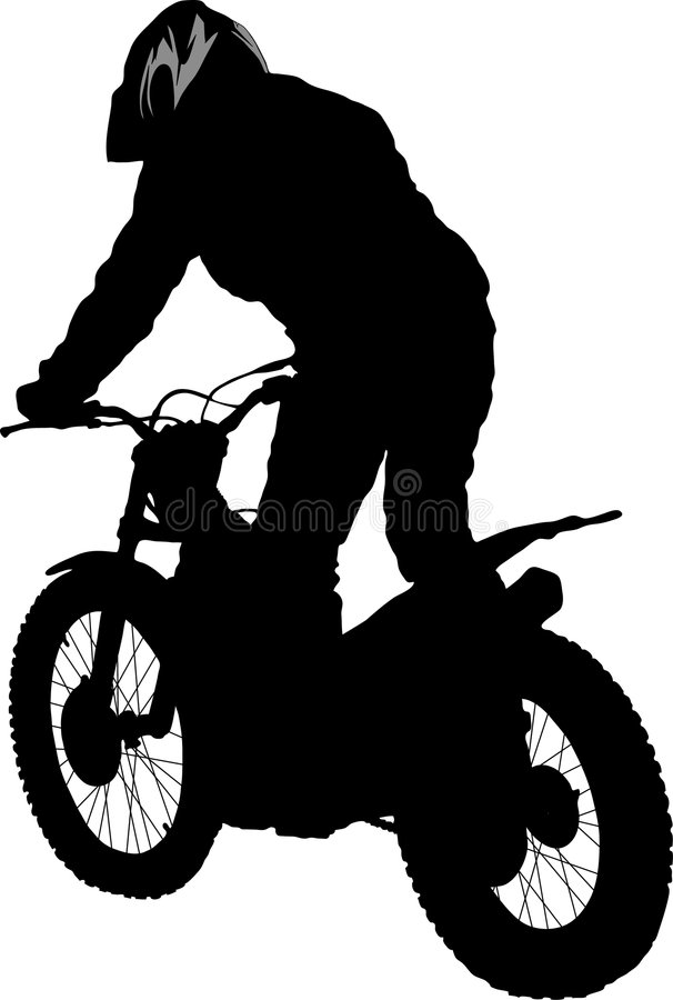 motobiker vektor illustrationer