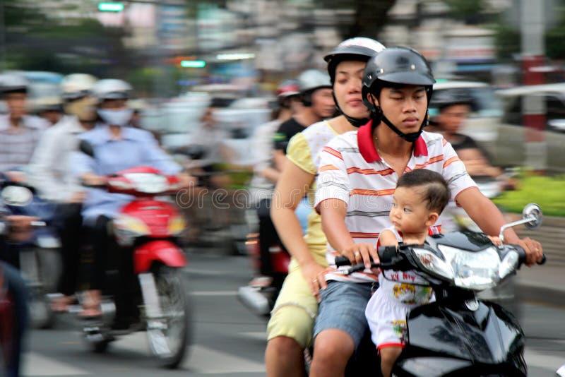 motobikes越南 免版税库存图片