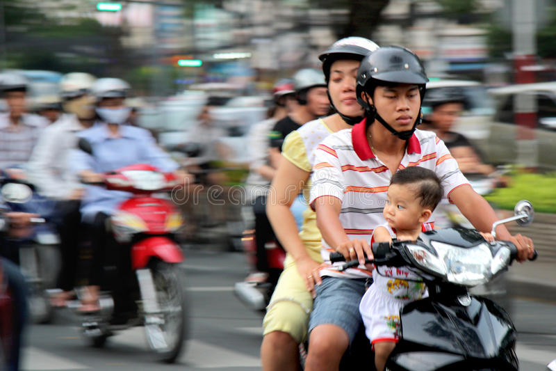 Motobikes Em Vietnam Foto Editorial