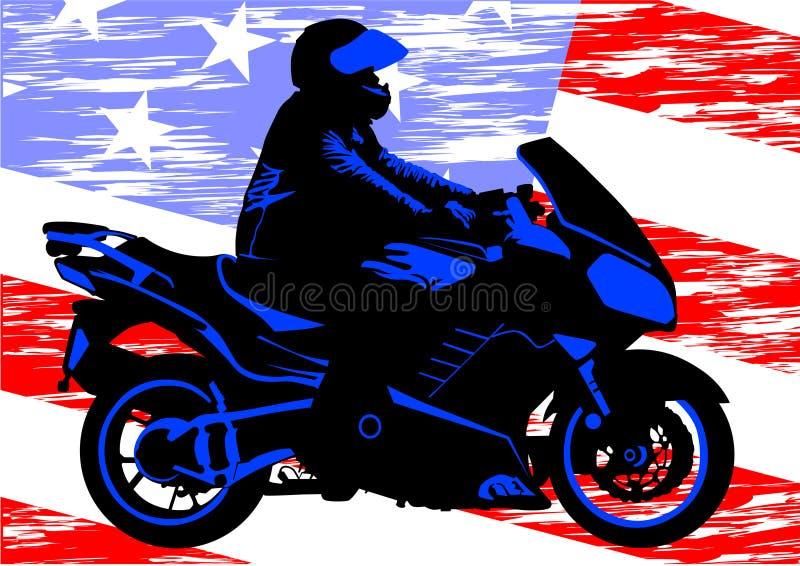 Motocicleta americana ilustração stock