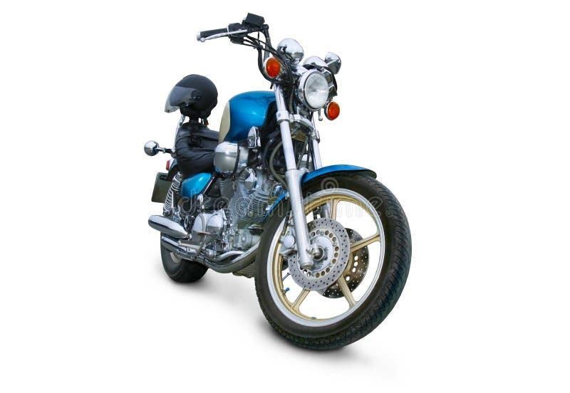 Motocicleta brilhante no fundo branco imagem de stock