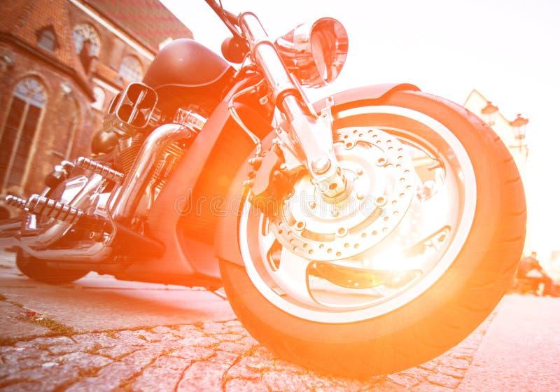 Motocicleta da roda fotos de stock