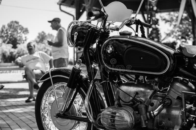 Motocicleta de BMW do vintage na feira automóvel anual do oldtimer imagens de stock royalty free