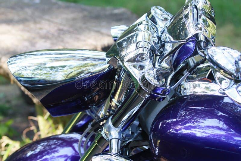 Motocicleta de Chrome fotos de stock