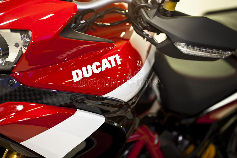 Motocicleta de Ducati imagem de stock