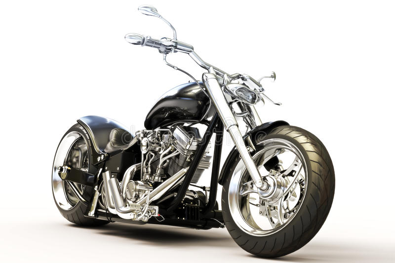 Motocicleta de encargo ilustración del vector