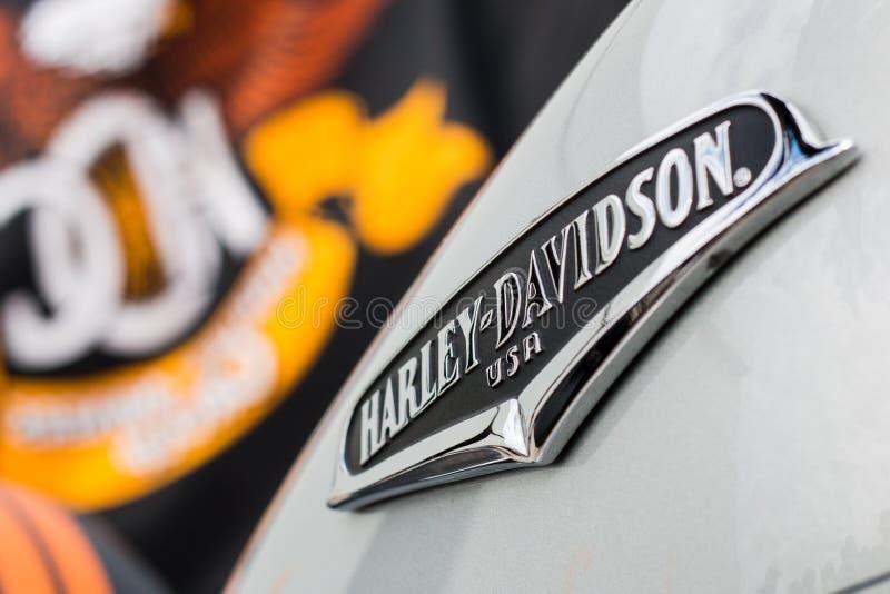 Motocicleta de Harely-Davidson imagenes de archivo