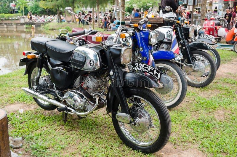 Motocicleta de la obra clásica de Honda fotografía de archivo
