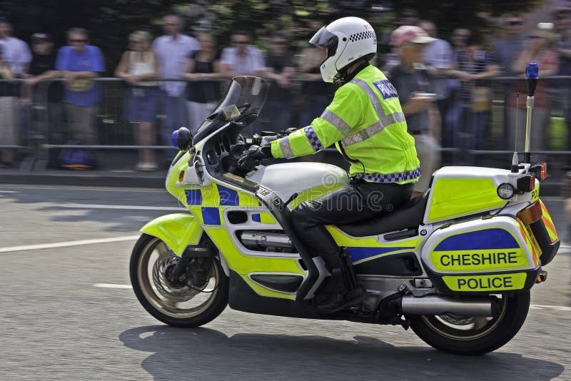 Motocicleta de la policía fotos de archivo