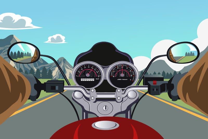 Motocicleta del montar a caballo stock de ilustración