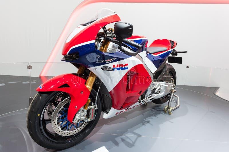 Motocicleta del receptor 213 de Honda HRC en el IAA 2015 imagen de archivo libre de regalías