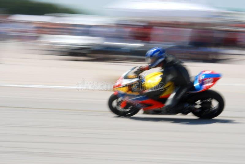 Motocicleta do borrão fotografia de stock