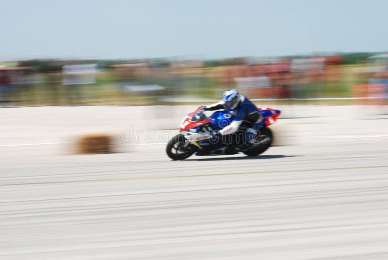 Motocicleta do borrão foto de stock