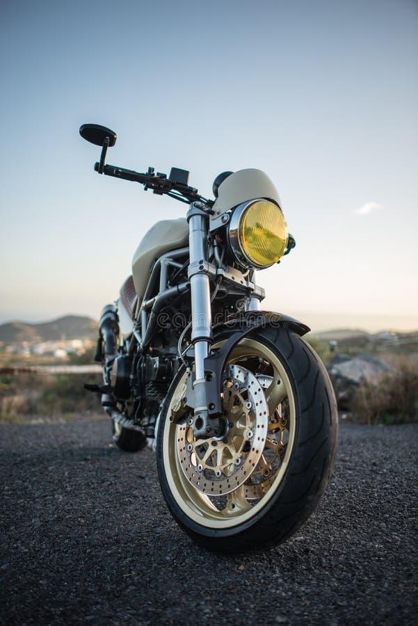 Motocicleta, estrada, paisagem fotografia de stock