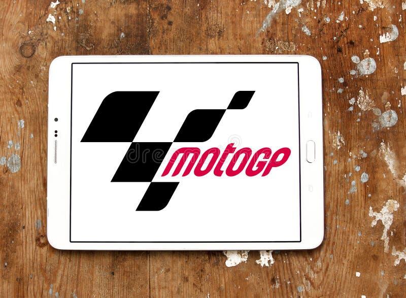 Motocicleta grande que compete, MotoGP de Prix, logotipo imagens de stock royalty free