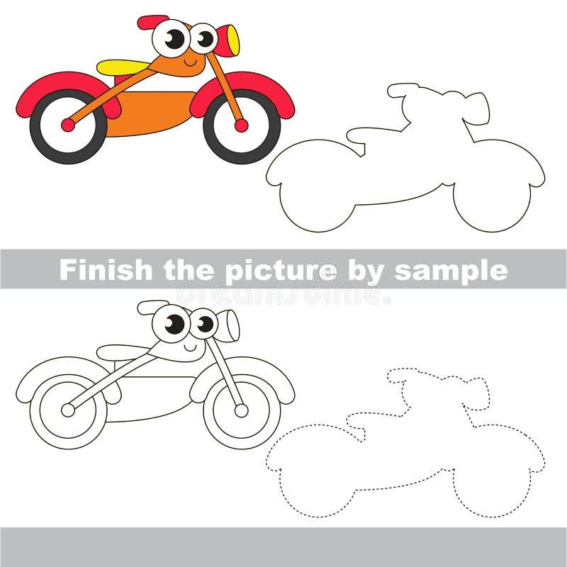 Motocicleta Hoja de trabajo del dibujo stock de ilustración