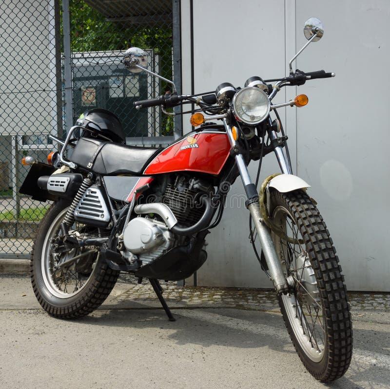 Motocicleta Honda XL250 Enduro imagen de archivo libre de regalías