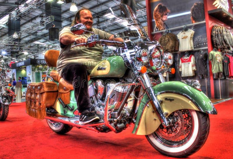 Motocicleta indiana americana moderna do vintage fotografia de stock royalty free