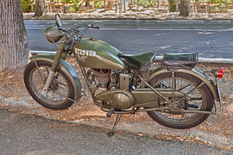Motocicleta militar británica 350 incomparables G3 L (1944) imágenes de archivo libres de regalías
