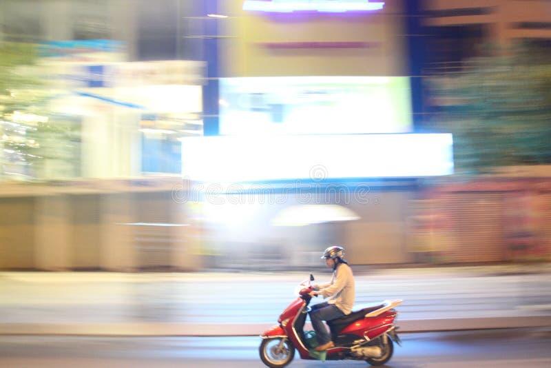 Motocicleta na cidade de Ho Chi Minh foto de stock