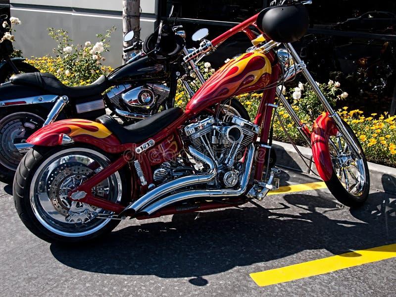 Motocicleta personalizada de Harley Davidson fotos de stock