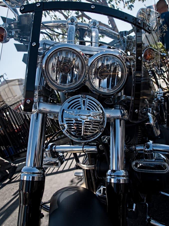 Motocicleta personalizada de Harley-Davidson foto de stock royalty free