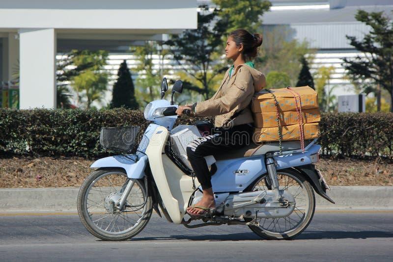 Motocicleta privada de Honda Super Cub foto de archivo libre de regalías