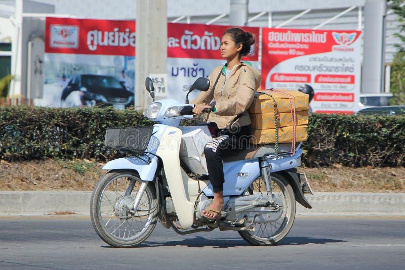 Motocicleta privada de Honda Super Cub fotografía de archivo
