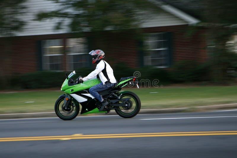 Motocicleta rápida foto de archivo libre de regalías