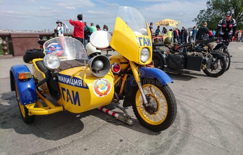 Motocicleta soviética da polícia foto de stock