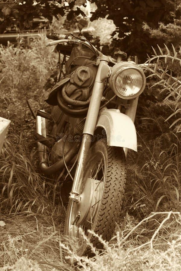 Motocicleta vieja clásica foto de archivo