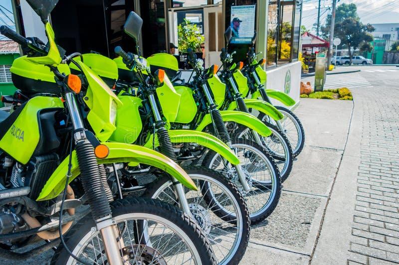 Motocicletas da polícia em Manizales, Colômbia imagens de stock royalty free
