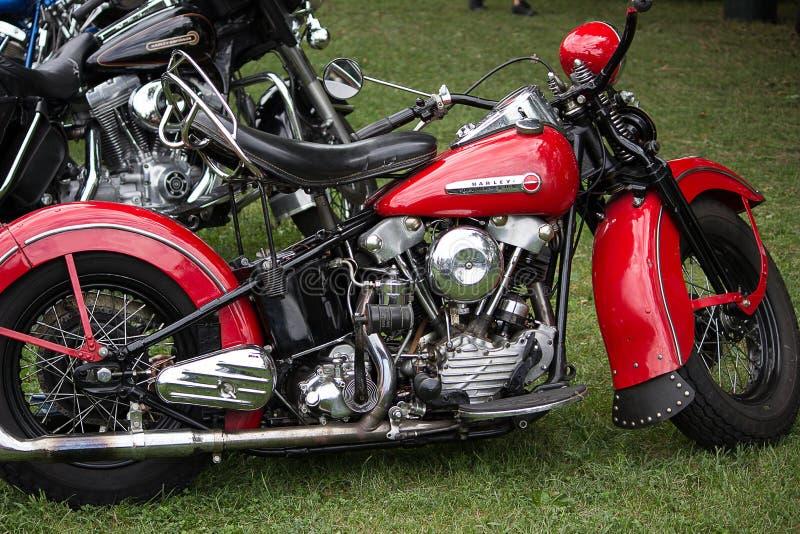 Motocicletas de la obra clásica y del vintage fotografía de archivo libre de regalías