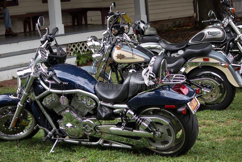 Motocicletas de la obra clásica y del vintage foto de archivo