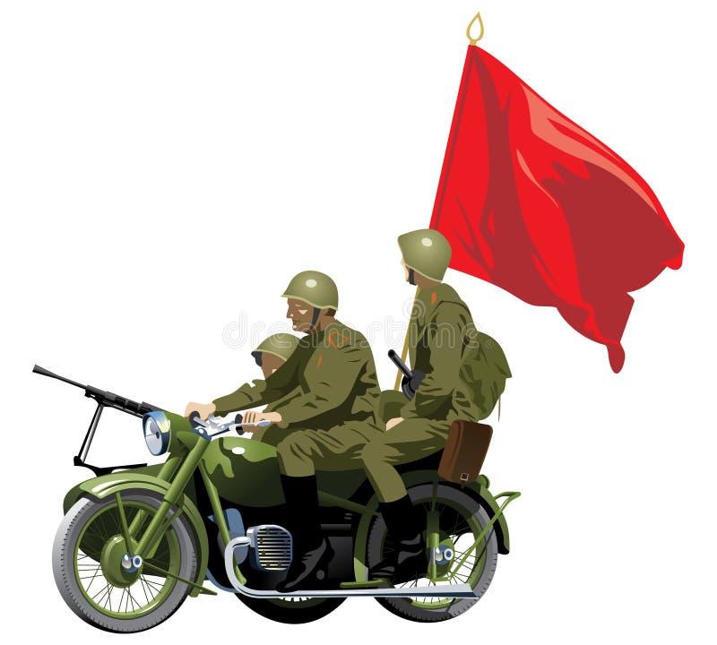 Motocicletas militares ilustración del vector