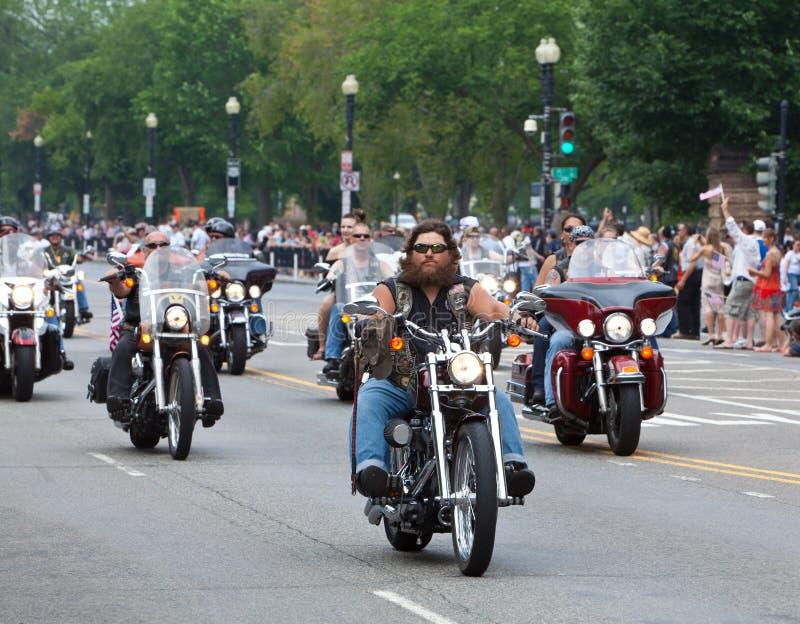 Motocicletas no Washington DC para o trovão do rolamento fotos de stock