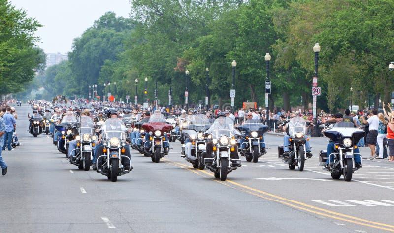 Motocicletas no Washington DC para o trovão do rolamento foto de stock royalty free