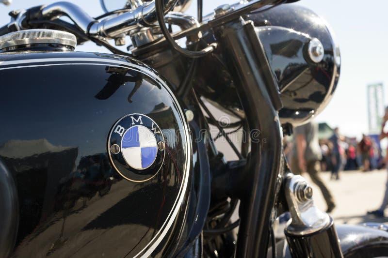 Motocicletta e motociclo di BMW fotografia stock