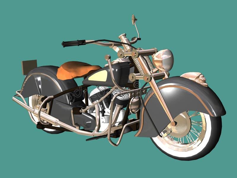 Motocicletta retro royalty illustrazione gratis