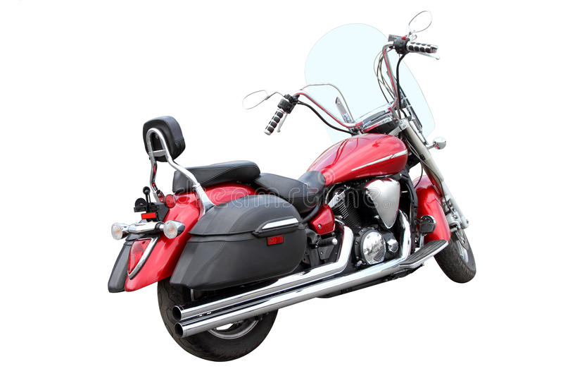 Motocicletta rossa fotografie stock
