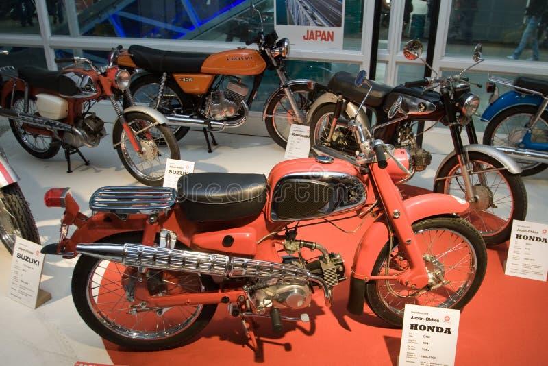 Motociclette del giapponese dell'annata fotografia stock