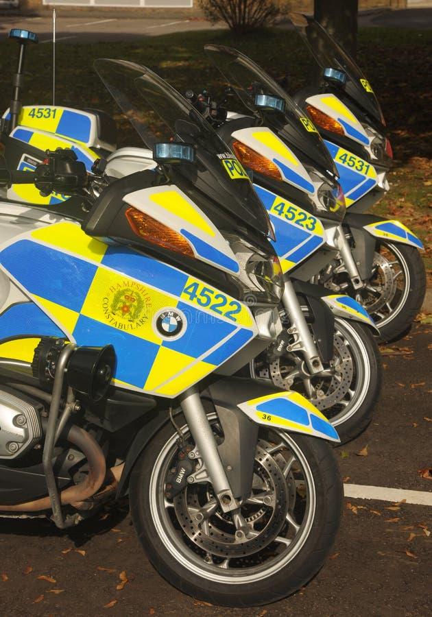 Motocicli della polizia immagine stock