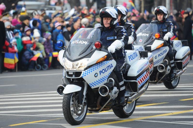 Motocicli della polizia fotografia stock