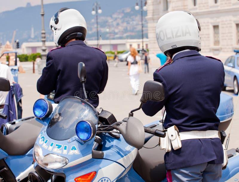 Motocicli italiani della polizia fotografia stock