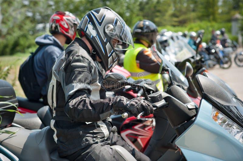 Motociclista immagine stock libera da diritti