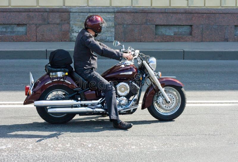 Motociclista fotografia de stock royalty free
